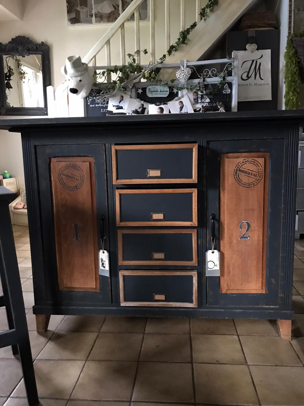 Rénovation de meuble style vintage industriel