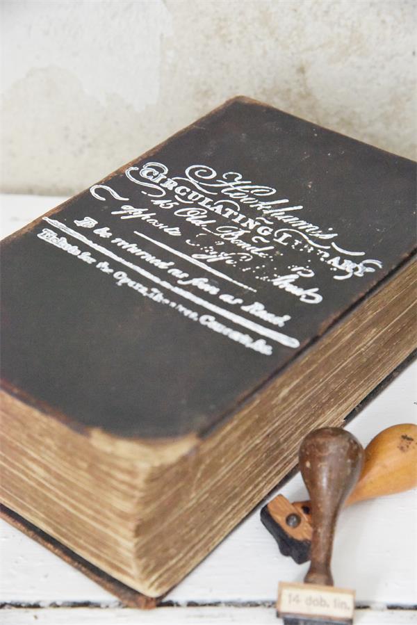 Tampon de décoration - Texte Hookman's - 10 x 14 cm - Réf. 702022