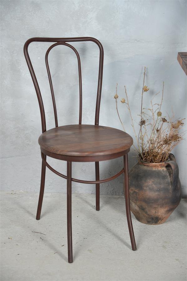 Chaise de salle à manger - Bois / fer - Réf : 573620