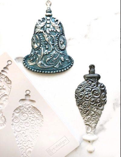 Exemple moule décoratif cloches argent SILVER BELLS redesign