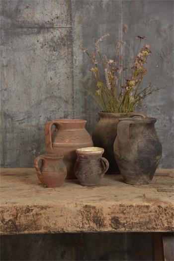 Pot en céramique ancien authentique - argile - H.25-36 cm suivant arrivage - Réf. 530848