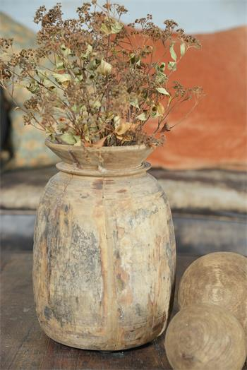 Vase ancien authentique - bois avec belle patine - H 18-25 cm suivant arrivage - Réf. 571954
