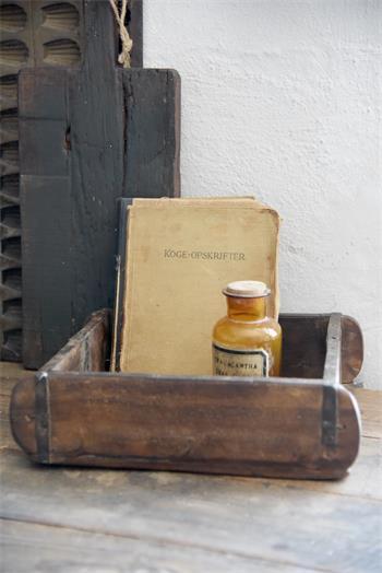 Moule brique carré authentique - Bois patiné - L 30 - l 28 - H 9 cm - Réf. 573334