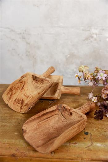 Cuillère ancienne authentique - bois - 27 x 26 x 5 cm - Réf.573648