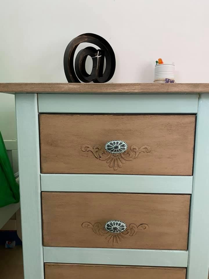 Tiroir bureau avec motifs décoratifs - moule silicone
